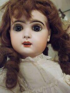 poupée bébé JUMEAU téte porcelaine  taille 9 53 cm bouche ouverte SUPERBE !!!