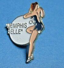 WWII MEMPHIS BELLE NOSE ART PINUP GIRL LAPEL/HAT PIN, G PETTY ARTWORK
