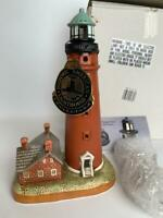 NEW Lefton China Lighthouse Collection PONCE De Leon 1887 Inlet +Box *LIGHTS UP*
