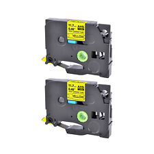 2x Compatible Brother HSe-631 Cartouche 11.7mm gaine thermorétractable jaune