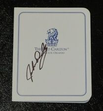 JOHN DALY Autographed Ritz-Carlton Golf Club Scorecard-Father/Son Tourney