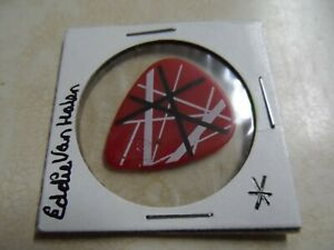EDDIE VAN HALEN white/red EVH Guitar Pick