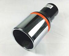 SPORT aspetto cromato nero tondo cappa di scarico apertura Tubo Finale Acciaio