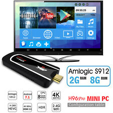 H96 Pro Mini PC Amlogic S912 2G 8G 8 Cores Android 7.1 2.4G Wifi BT4.1 4K HDMI