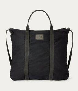 New RRL Ralph Lauren Canvas Jungle Cloth Indigo Tote Blue Vintage Flight Bag