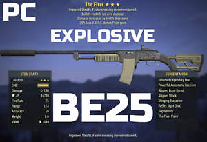 Fallout 76 PC The Fixer BE25 explosive