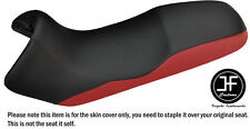 DESIGN 2 DARK RED & BLACK VINYL CUSTOM FITS BMW F 650 FUNDURO 93-00 SEAT COVER