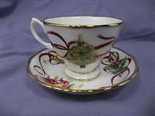Royal Albert Old Country Rose Christmas Tree Tea Cup and Saucer Set