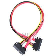 50 cm 22P 7+15Pin M/F Serial ATA SATA Data Power Combo Extension Cable