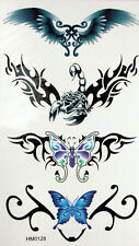 King Horse Butterflies Low Back  Temporary Tattoos #HM0128