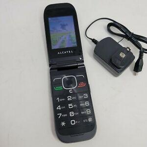 Classic Flip TracPhone Cellphone Prepaid Alcatel A392G black