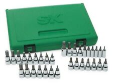 "SK Hand Tools 89039 33 Piece 1/4"" & 3/8"" Dr Fractional & Metric Bit Socket Set"