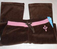 Roxy Teenie Wahine Girls Velour Sweat Style Pants Coffee XL/6X NWT