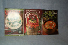 PATIO PARTY Recipes, Ideas,Name Brand Products 3 Cookbks 1967,1969,1970 FREE SHP