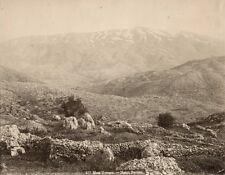 Albumen Print Mont Hermon Mount Hermon Lebanon c1870 Bonfils Photograph