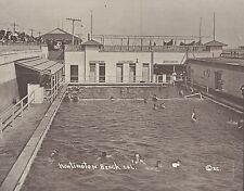 "HUNTINGTON BEACH Surf City SALT WATER PLUNGE Swim Pool Photo Print 951 11"" x 14"""