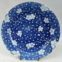 Antique Chinese KANGXI STYLE blue and white prunus plate