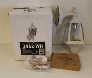 "NIB Designers Fountain 2462-WH 1 Exterior Light 7"" Cast Aluminum Wall Lantern"