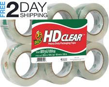 Duck Hd Clear Heavy Duty Packing Tape 188 Inch X 109 Yards 6 Rolls 299016