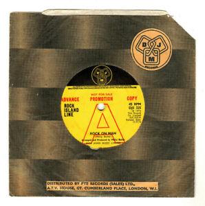 "ROCK ISLAND LINE.ROCK ON MAN / LET'S TRY.UK ORIG 1974 7"" PROMO & CO/SL.G+"