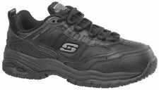 Skechers Relaxed Fit Men's 77042 Mavin Black Soft Toe Work Shoes