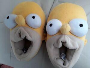 Mens Boys Women Girls Novelty Slippers Homer Simpson Mule Boot Size 7 EU 40