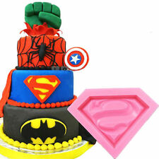 Superman Silicona Molde Fondant Decoración Pastel Chocolate Arcilla Fimo UK