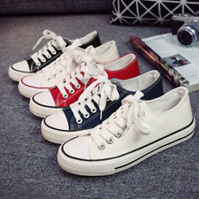 Fashion Women's Men's Lace Up Low High Top Shoes Casual Canvas Sneakers Trainers