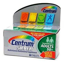 Centrum Silver Multivitamin/Multimineral for Adults 50+, Tablets 80 ea
