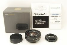 537 Voigtlander Ultron 40mm f/2 SL II Asph for Nikon ***N MINT*** in Box ULTRON