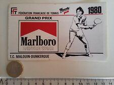 AUTOCOLLANT MARLBORO TENNIS CLUB GRAND PRIX DUNKERQUE MALO 1980 F1 STICKER DECAL
