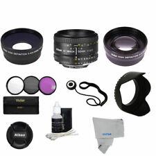 Nikon Nikkor 50mm F/1.8 AF Lens +ACCESSORY KIT FOR NIKON D5200 D5500 D5600 D3400