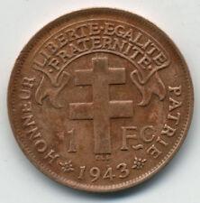 FREE FRENCH EQUATORIAL AFRICA 1943 SA (PRETORIA) 1 FRANC
