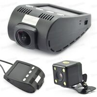 Full HD 1080P Car DVR Driving Recorder Dash Cam Dual Camera Record G-Sensor
