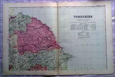 Yorkshire (Nord Est), anni 1890 Gate Mappa PIEGA