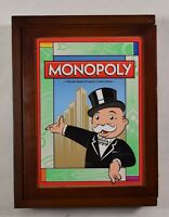 Monopoly Wood Case Board Game Vintage Collection Bookshelf Complete