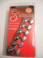 Grover Mini Locking Rotomatic 6 inline configuration Chrome gear 18-1 406C6