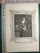 c1830 ANTIQUE PRINT ~ ROBERT RICH EARL OF WARWICK