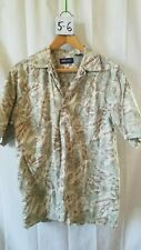 Vintage Men's Hawaiian Shirt Faded Glory Size S 100% Cotton Floral Pattern