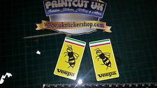 2x Vespa Wasp Full Colour Decals Stickers, Vespa, Mod, GTS, PX, ET, 125 250 300