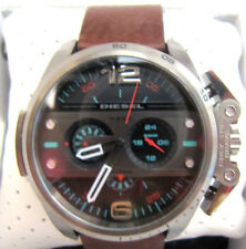 New Diesel Men's Ironside Brown Leather Chronograph Watch DZ4387 NWT $260