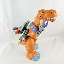 Fisher-Price Imaginext Mega T-Rex Dinosaur Dino Battle Tech Gear Tan Sounds