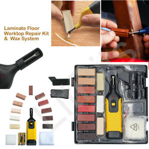 19pc Laminate Floor Worktop Repair Kit Wax System Sturdy Case Chips Scratches