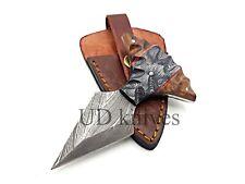 UD CUSTOM HANDMADE 1095 DAMASCUS STEEL  FULL TANG HUNTING KNIFE 469