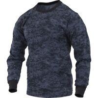 Midnite BLUE Digital Camo LONG SLEEVE T-Shirt US Navy Army USCG USAF Police SWAT