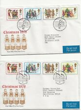 Gb Mnh Stamp Set 1978 Christmas Carol Singers Sg 1071-1074 - Fdcs+Mnh Set