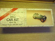 Vintage Woodkrafter Kits Model 124 Classic Cars Mg Car Kit Original Packaging