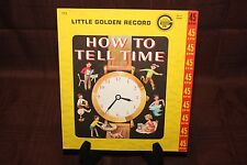 SLEEVE ONLY Little Golden Record How to Tell Time 45rpm