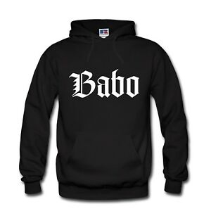 Herren Hoodie Kapuzenpulli Babo The Boss Rap Chabo S-3XL NEU TOP QUALITÄT!
