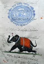 Elephant stamp  painting  minature artistic decorative wall hanging  art work